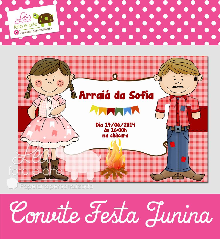 Convite Festa Junina Criativo Elo7