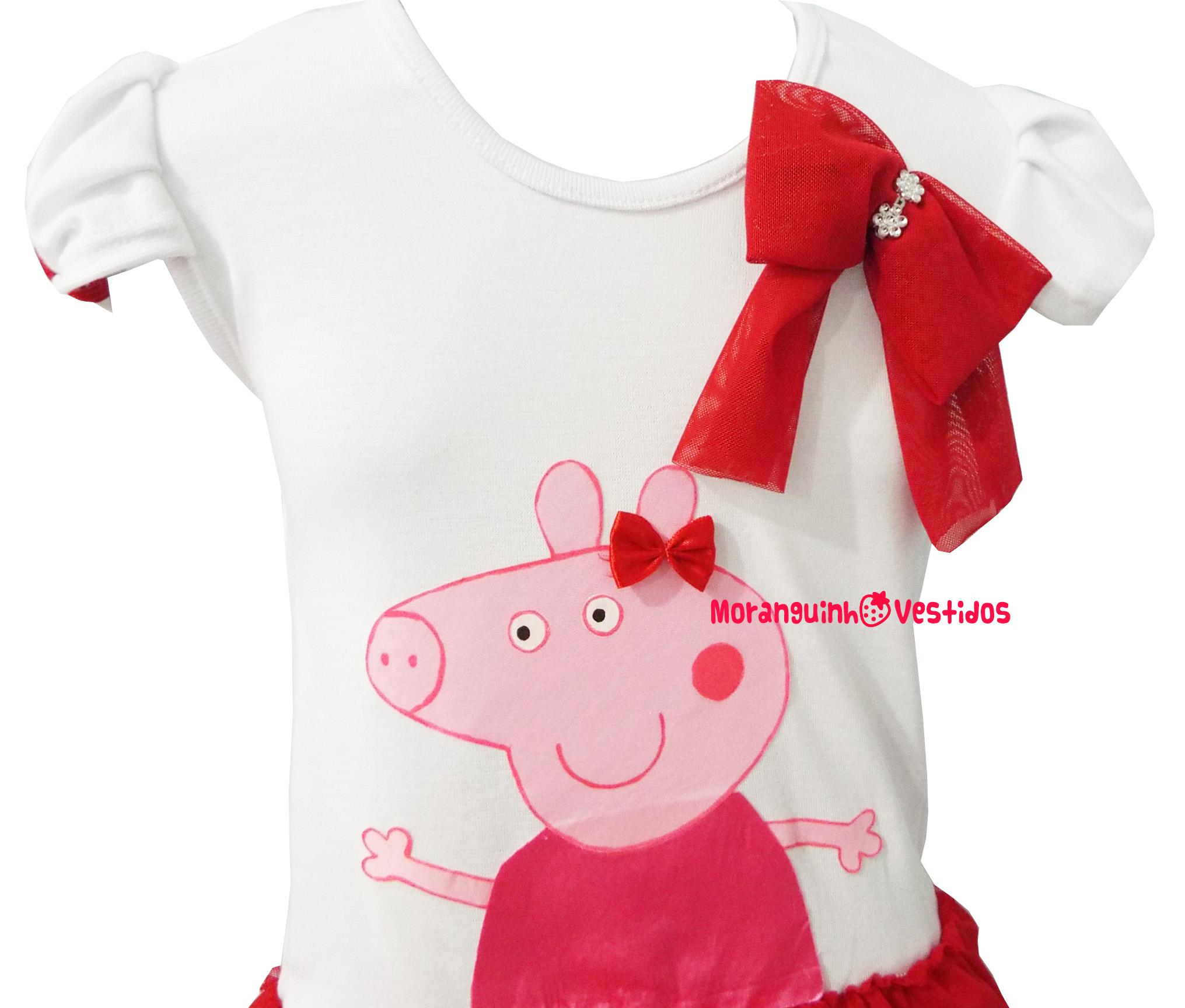 baf134edf Vestido Peppa Pig - MOD. 2 no Elo7 | MORANGUINHO VESTIDOS (406B91)