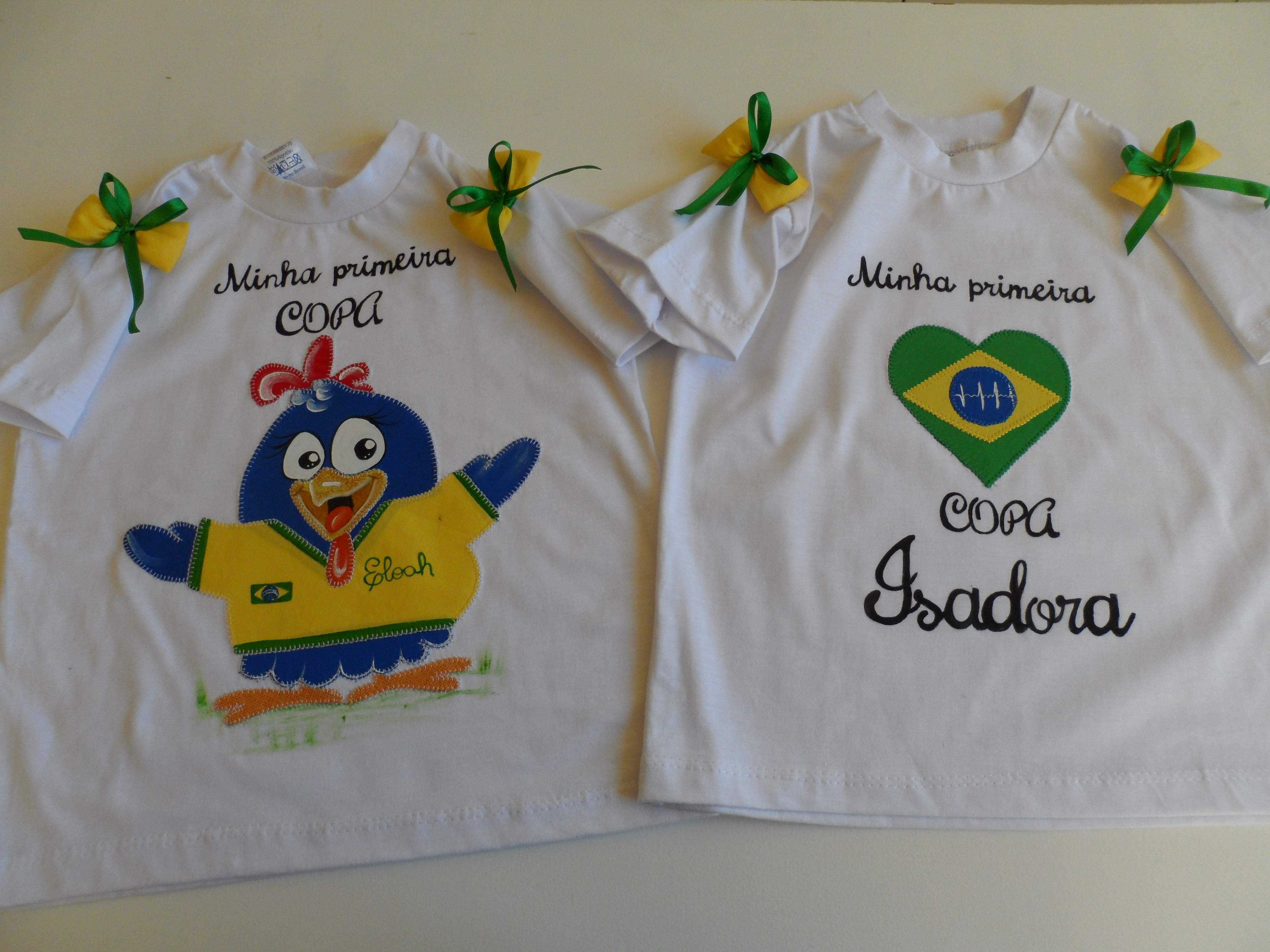 Camiseta Infantil Azul Brasil Copa  a57855816df33
