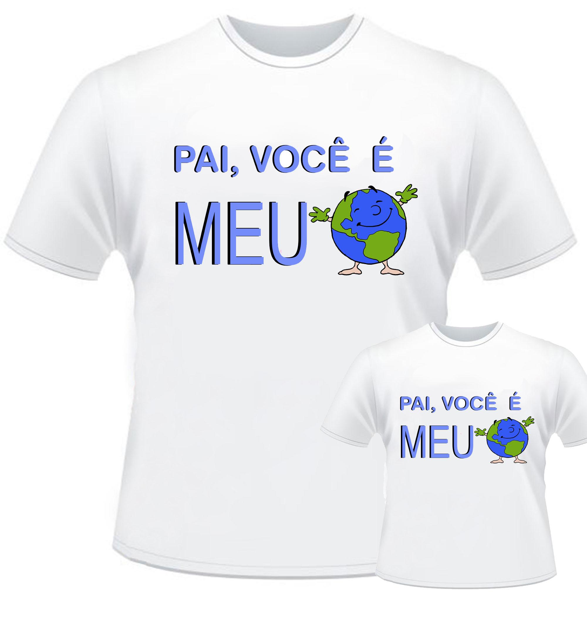 Kit 2 Camisetas Super Pai Dia Dos Pais