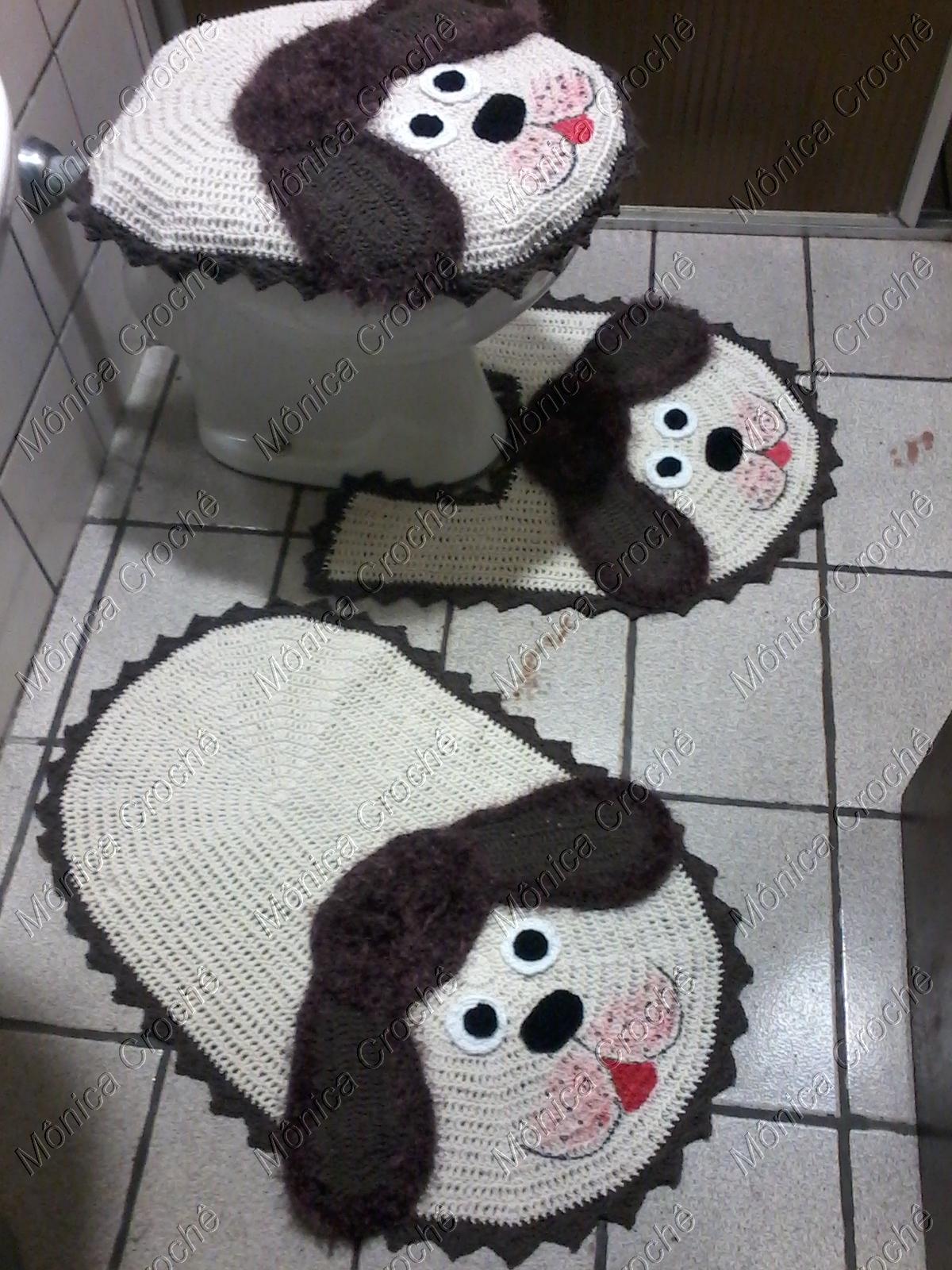 jogo de banheiro de cachorro tapetes para banheiro #614949 1200x1600 Banheiro Adequado Do Gato
