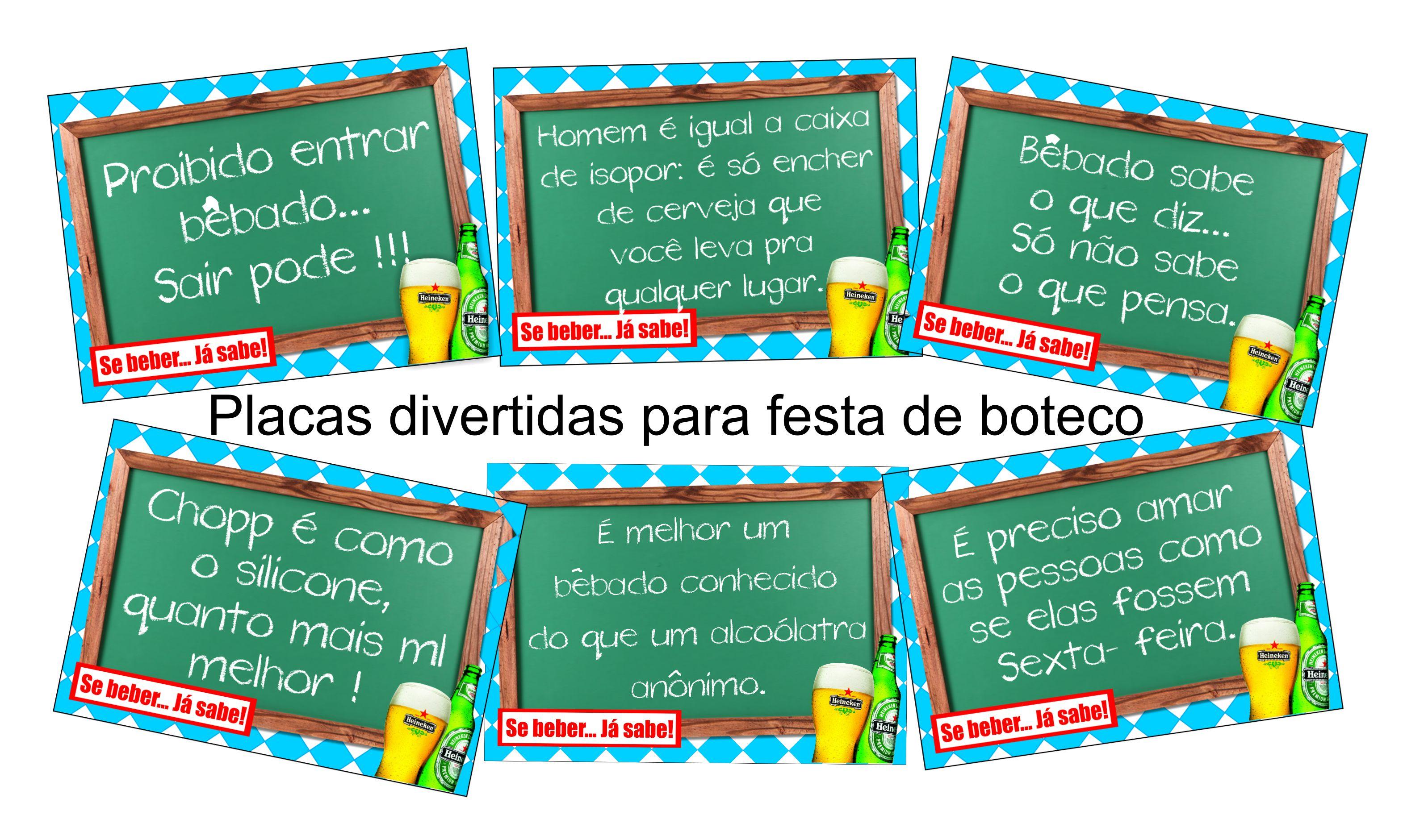 Placas Divertidas para Festa Boteco Az Papelarte Personalizados  #08A1C3 3188 1882