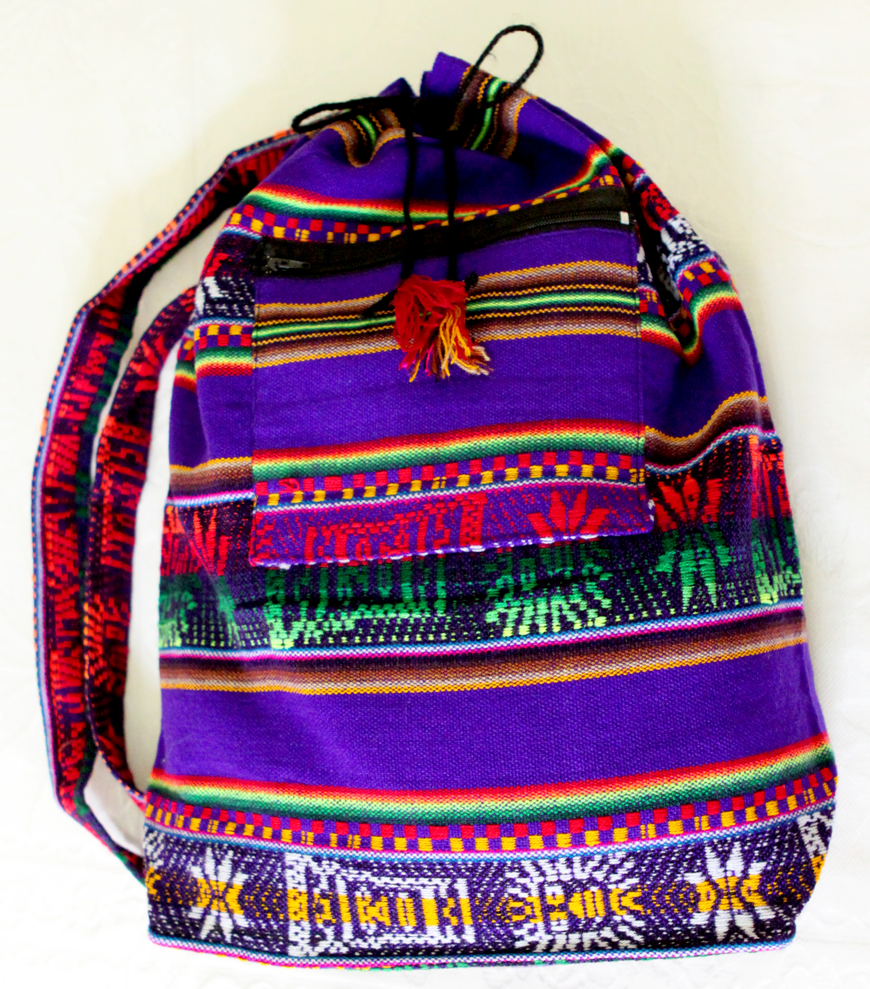 Mochila peruana artesanal roxa no Elo7  3cf5ec0fa96