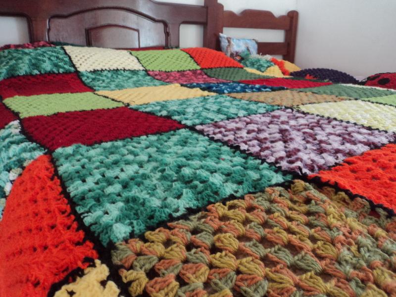 Colcha patchwork de l nair artesanatos elo7 - Colchas de patchwork modernas ...