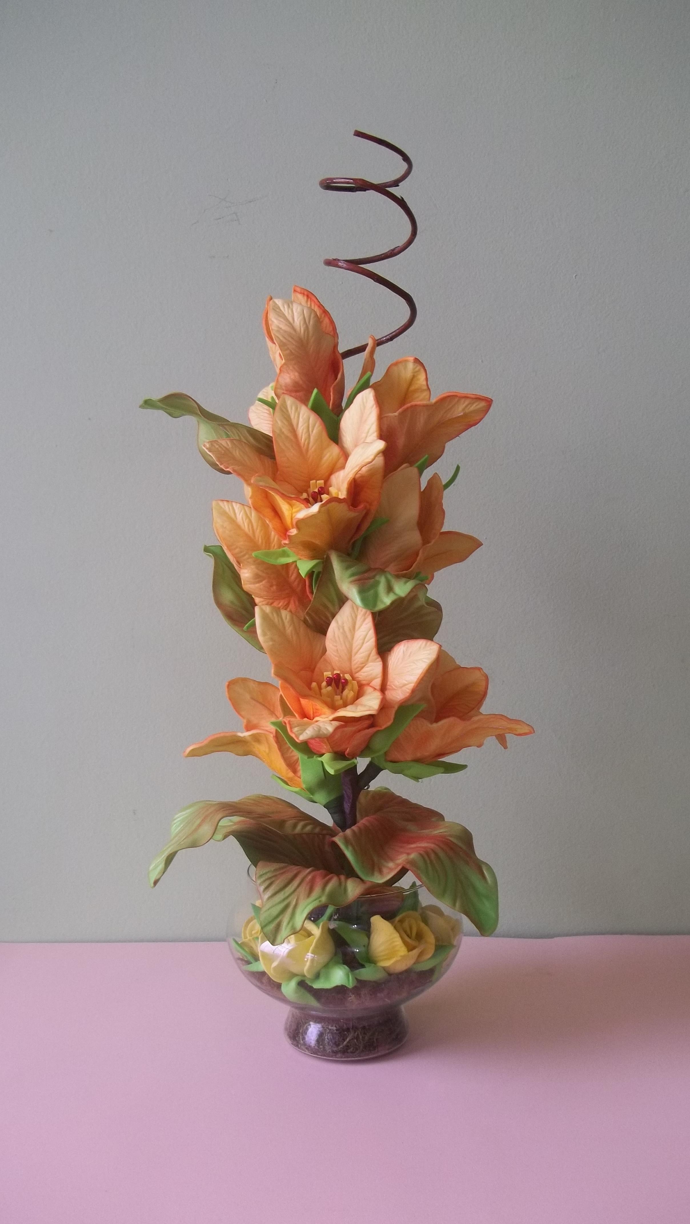 Arranjo de Flores Artificiais Idéias e Cores Decor Elo7 -> Decoração Arranjos De Flores Artificiais