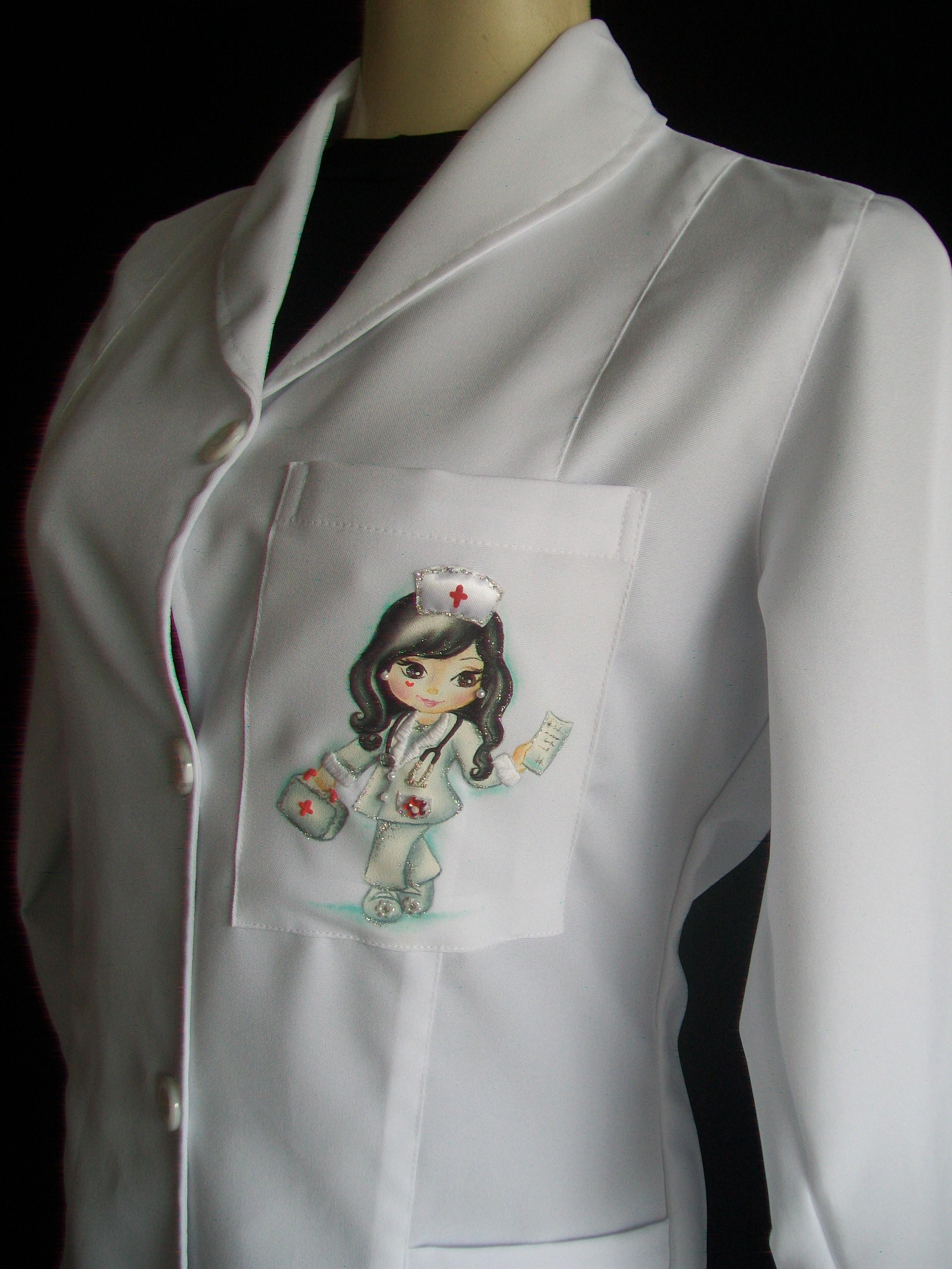Jaleco Enfermagem Personalizado Bazar M 227 Os De Anjo Elo7