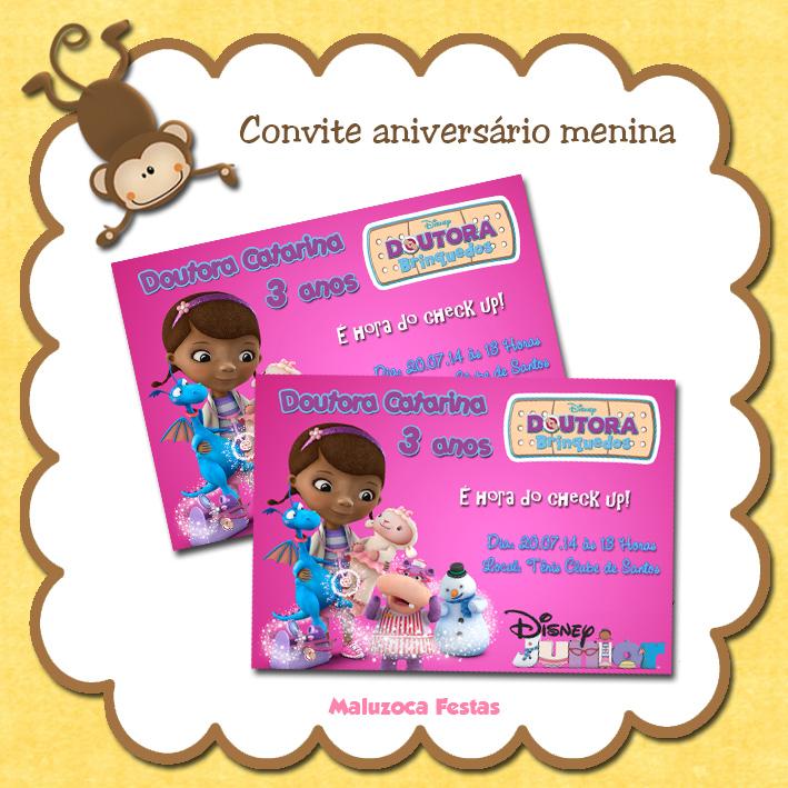 Convite Doutora Brinquedos No Elo7 Maluzoca Festas 42002a