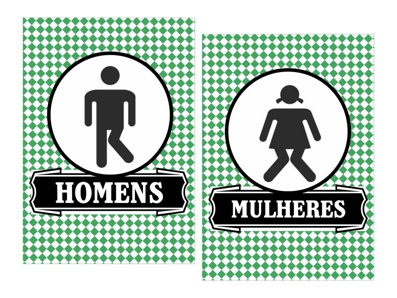 PLACAS BANHEIRO  Arte Digital  Criadora de Festas  Elo7 -> Banheiro Feminino Placa Para Imprimir