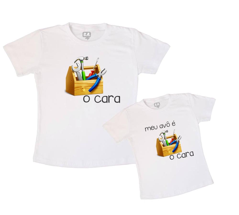2c9e4a6269ede8 Camiseta Personalizada Pai Mae Filho Avo e Avo   Elo7