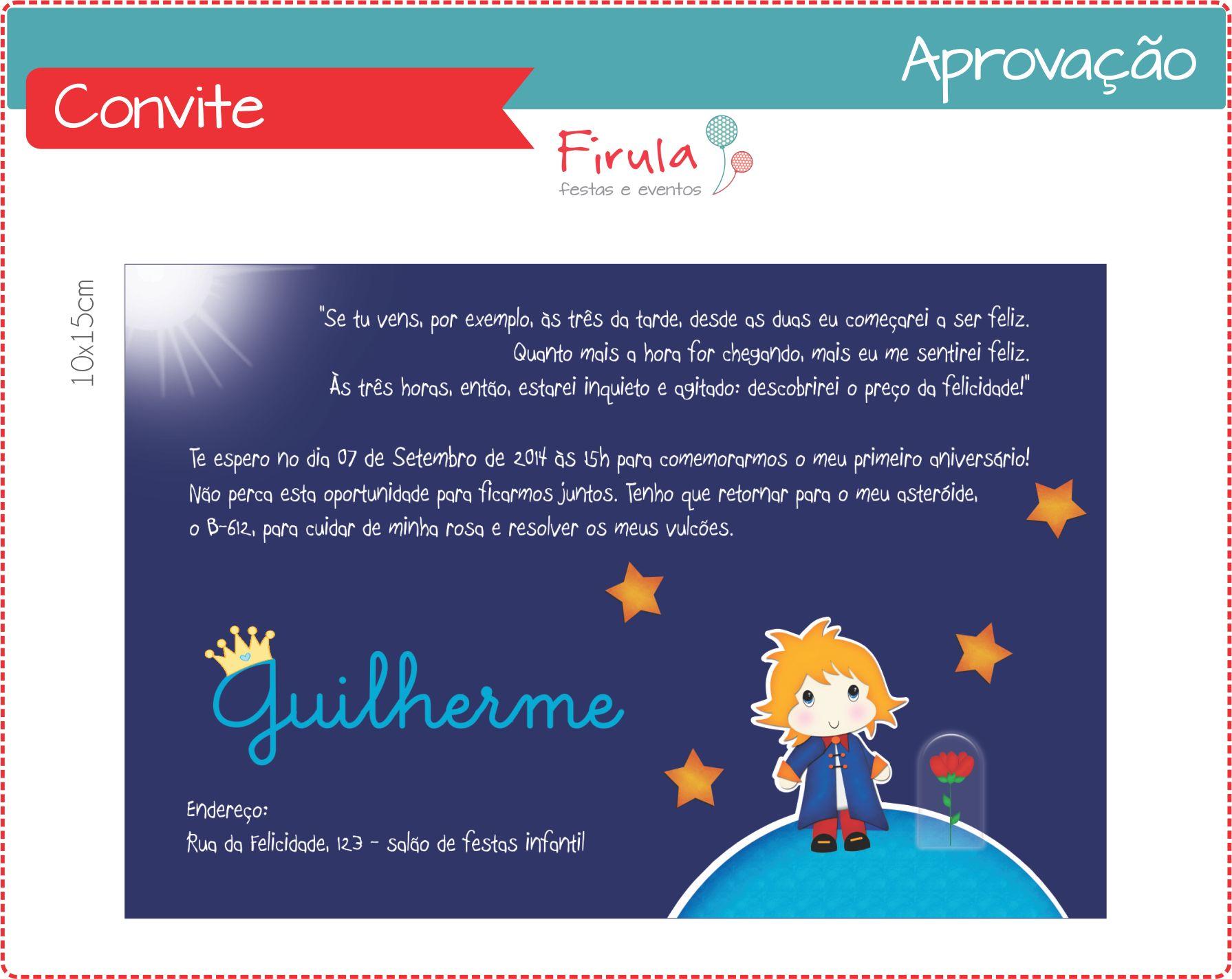 Convite Digital Pequeno Príncipe | Firula Festas | Elo7