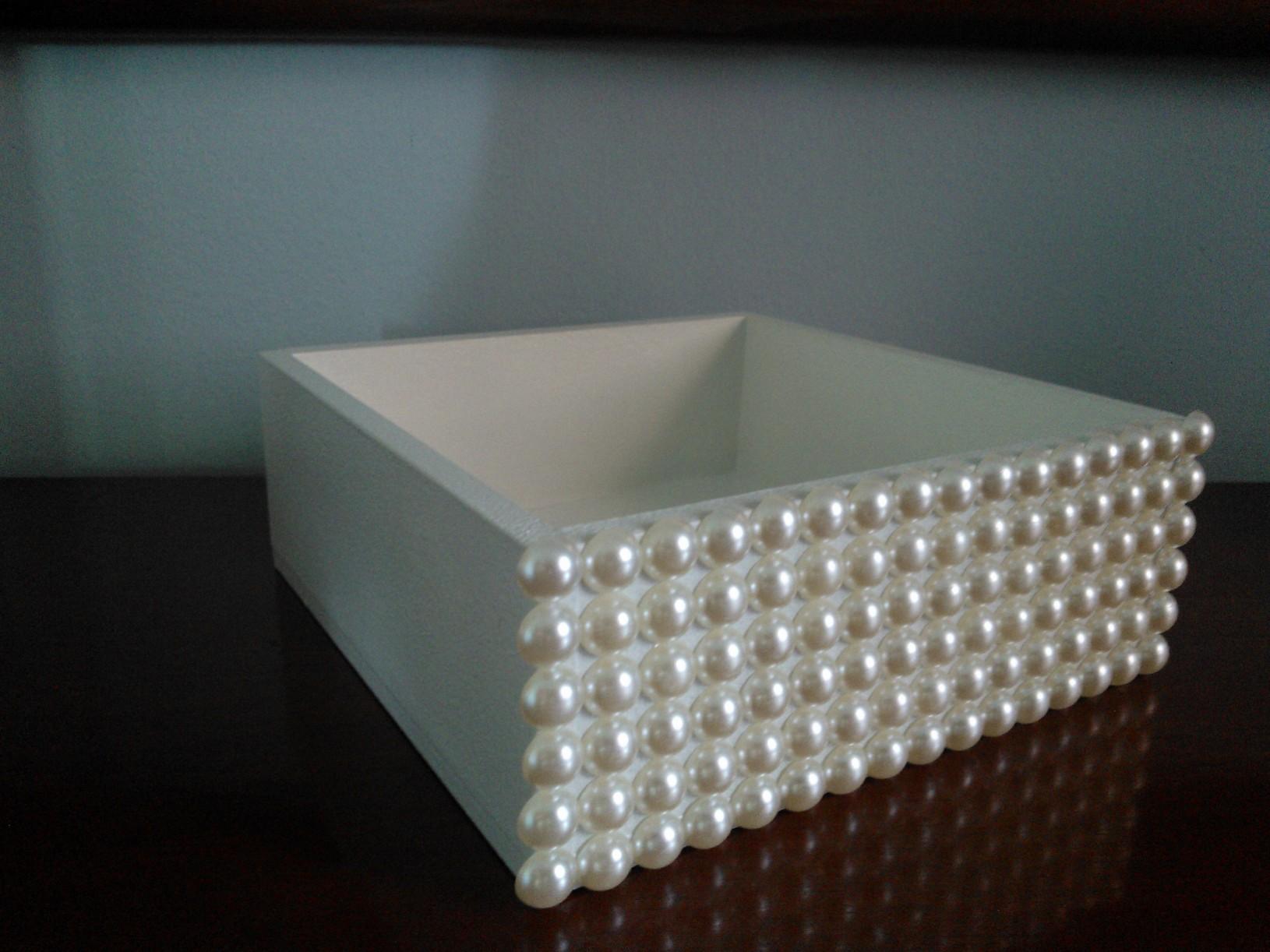 caixa mdf decorada com perolas caixa mdf #5E4E38 1630x1222