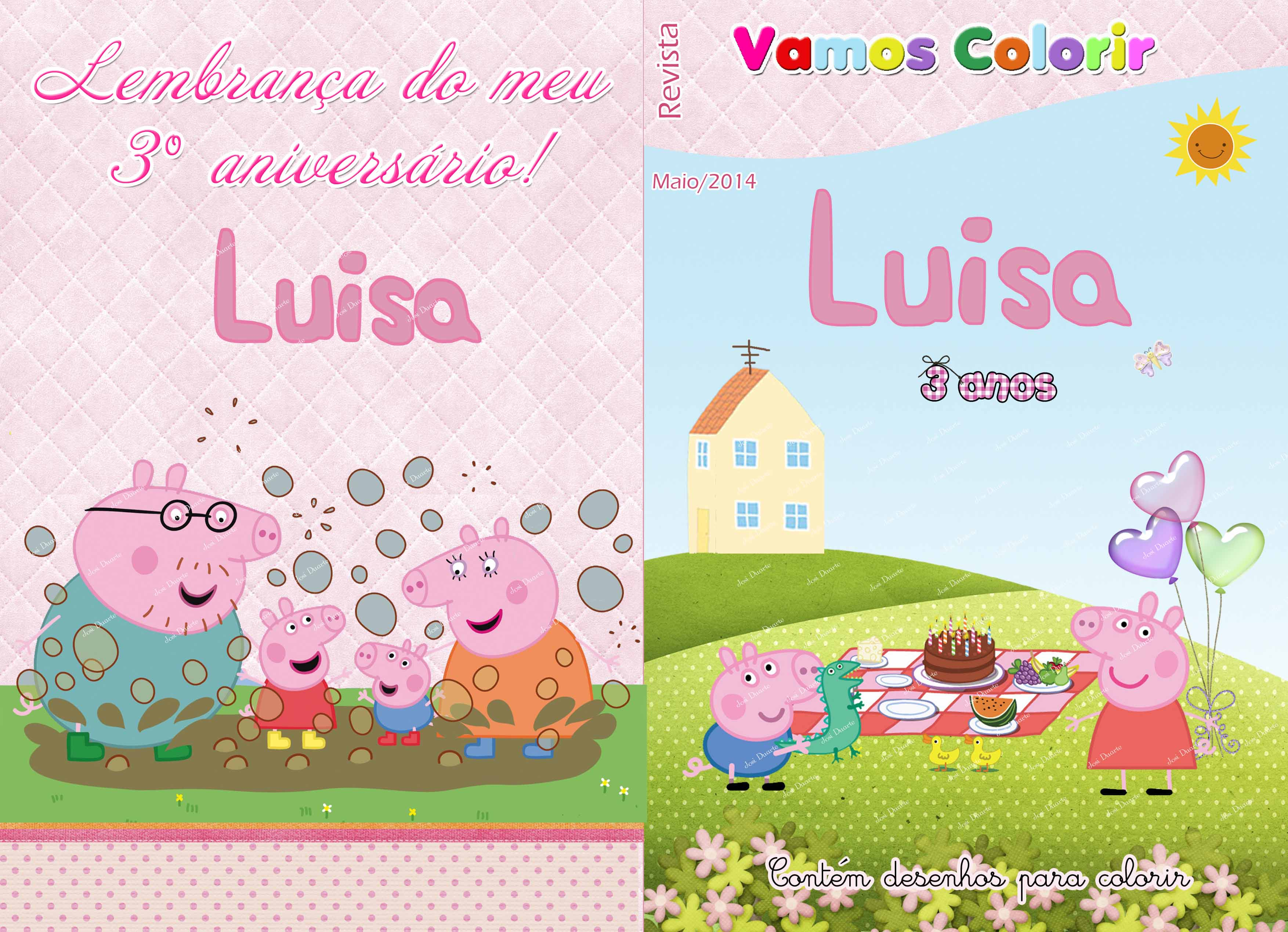 Caderno De Colorir Peppa Pig No Elo7 Loja Criativa Presentes