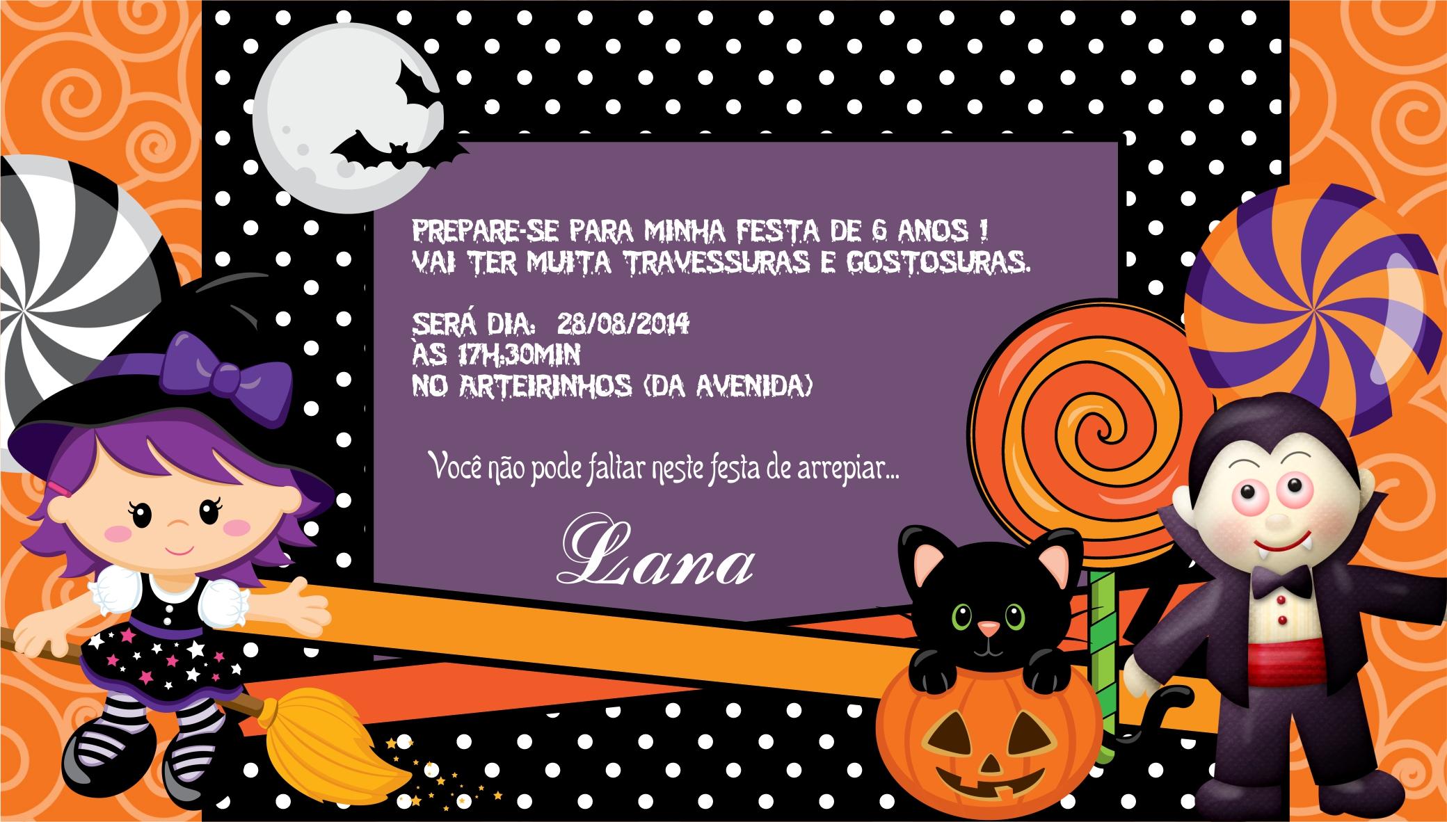 Kit festa halloween art decorada elo7 - Fiesta de halloween infantil ...