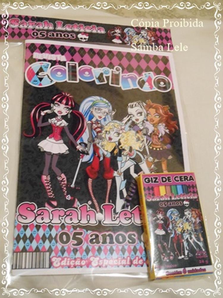 Monster High Kit Colorir Elo7