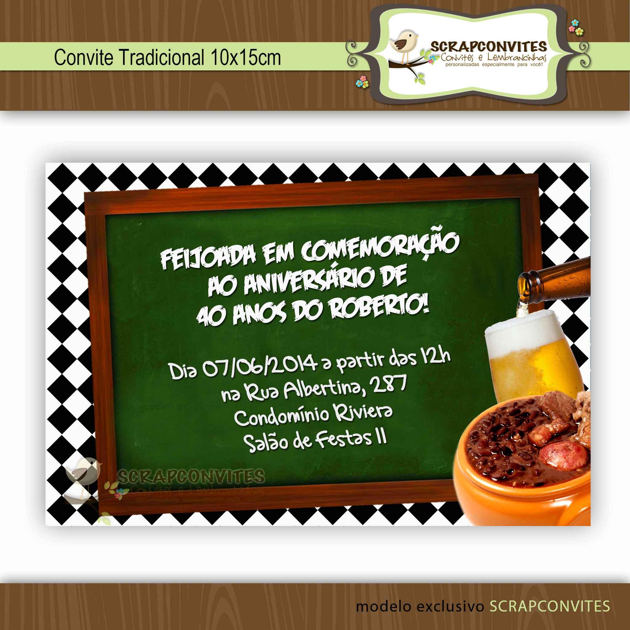 Convite Para Feijoada Convite Almoco Elo7