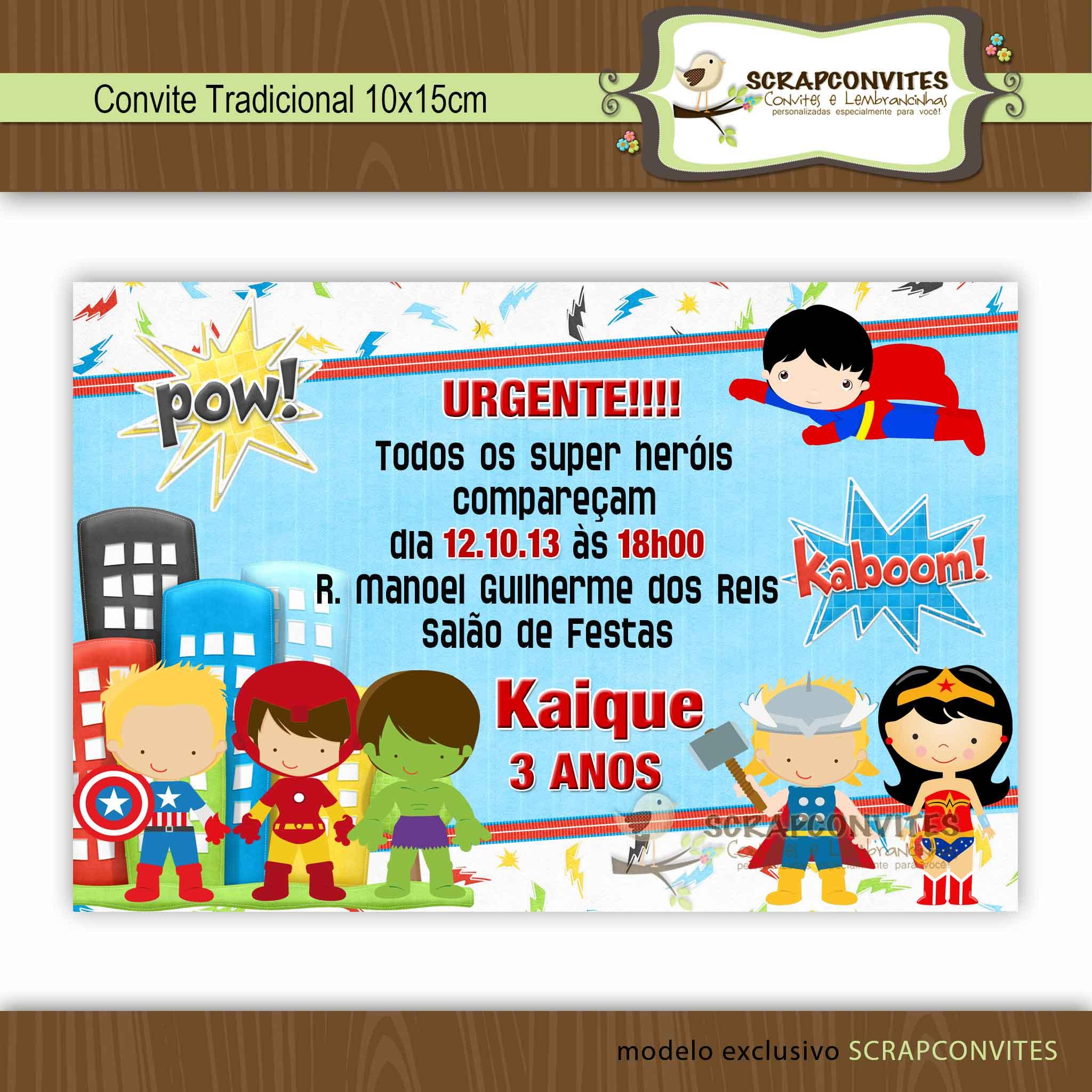 Convite Super Heróis No Elo7 Scrapconvites Artes 432499