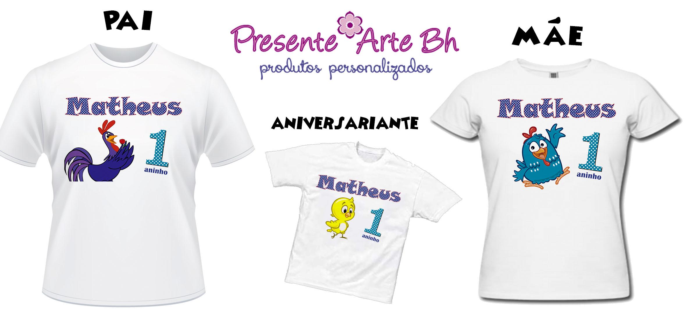 Kit Camisas Aniversário Pai Mãe E Filho No Elo7 Presentearte Bh