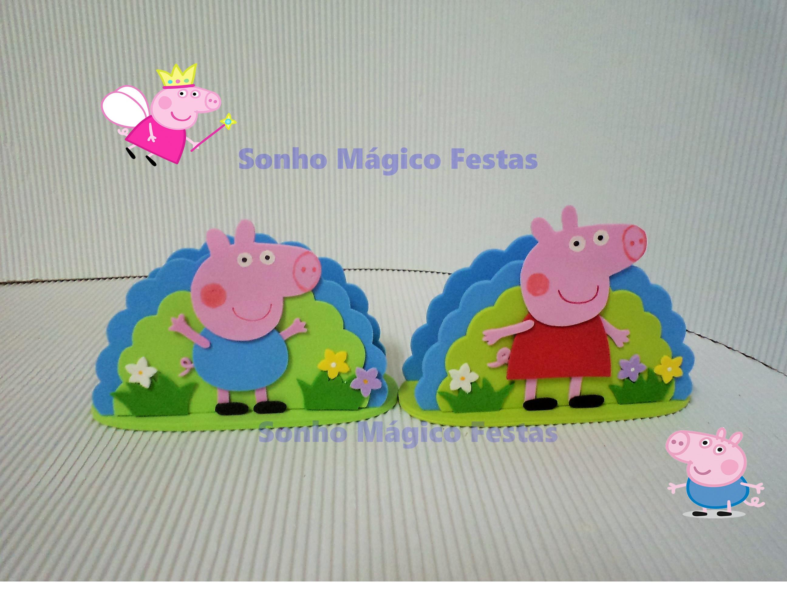 Molde Porta Guardanapos Peppa Pig em EVA no Elo7 | Atelier Sonho Mágico  (4166CC)