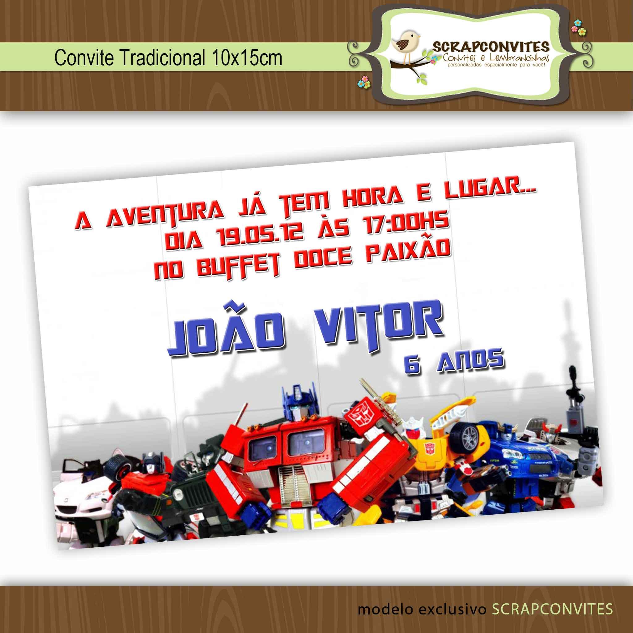 Convite Robot Trains Elo7