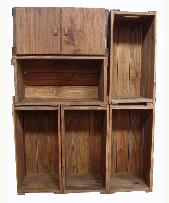Armario Ikea Pax Blanco ~ Armário 6 caixotes com uma porta Caixaria móveis Elo7