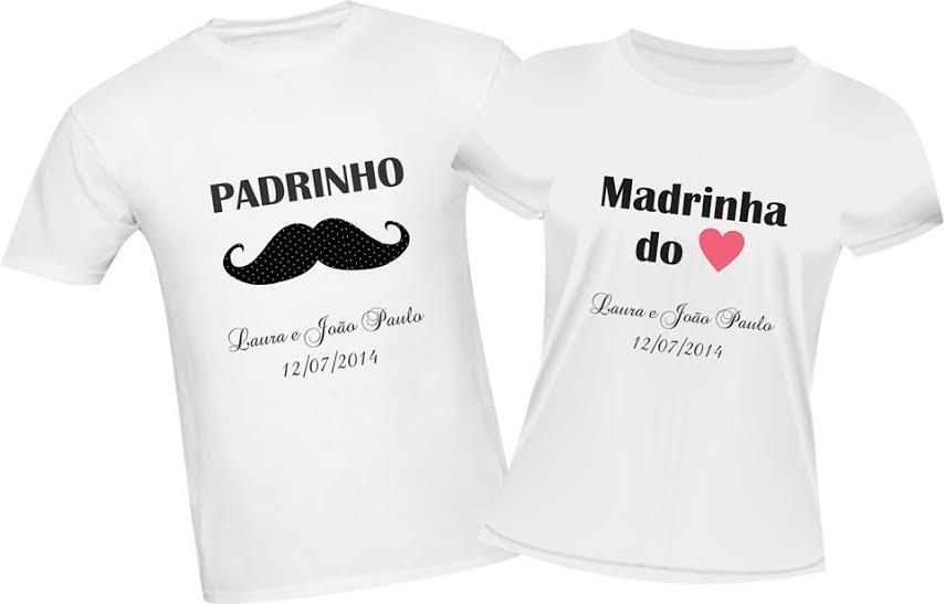 Camiseta Padrinhos Elo7
