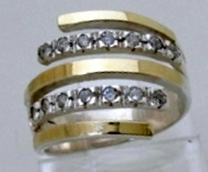 Anel em Prata 925 com Filete de Ouro   Elo7 18247a095c