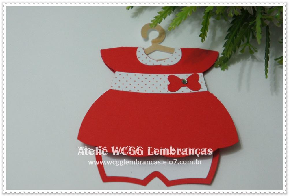 Convite Chá De Bebê Vestido Vermelho No Elo7 Ceci Festas 43ed61