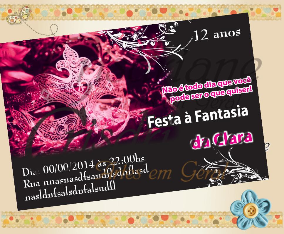 Convite Festa A Fantasia No Elo7 Crisdriane Artes Em Geral 43ee3b