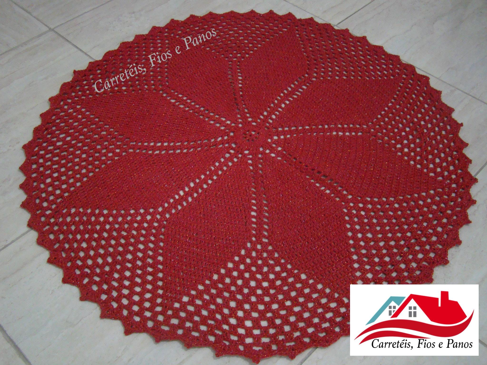 Tapete De Croche Redondo -> Tapete De Croche Redondo Passo A Passo