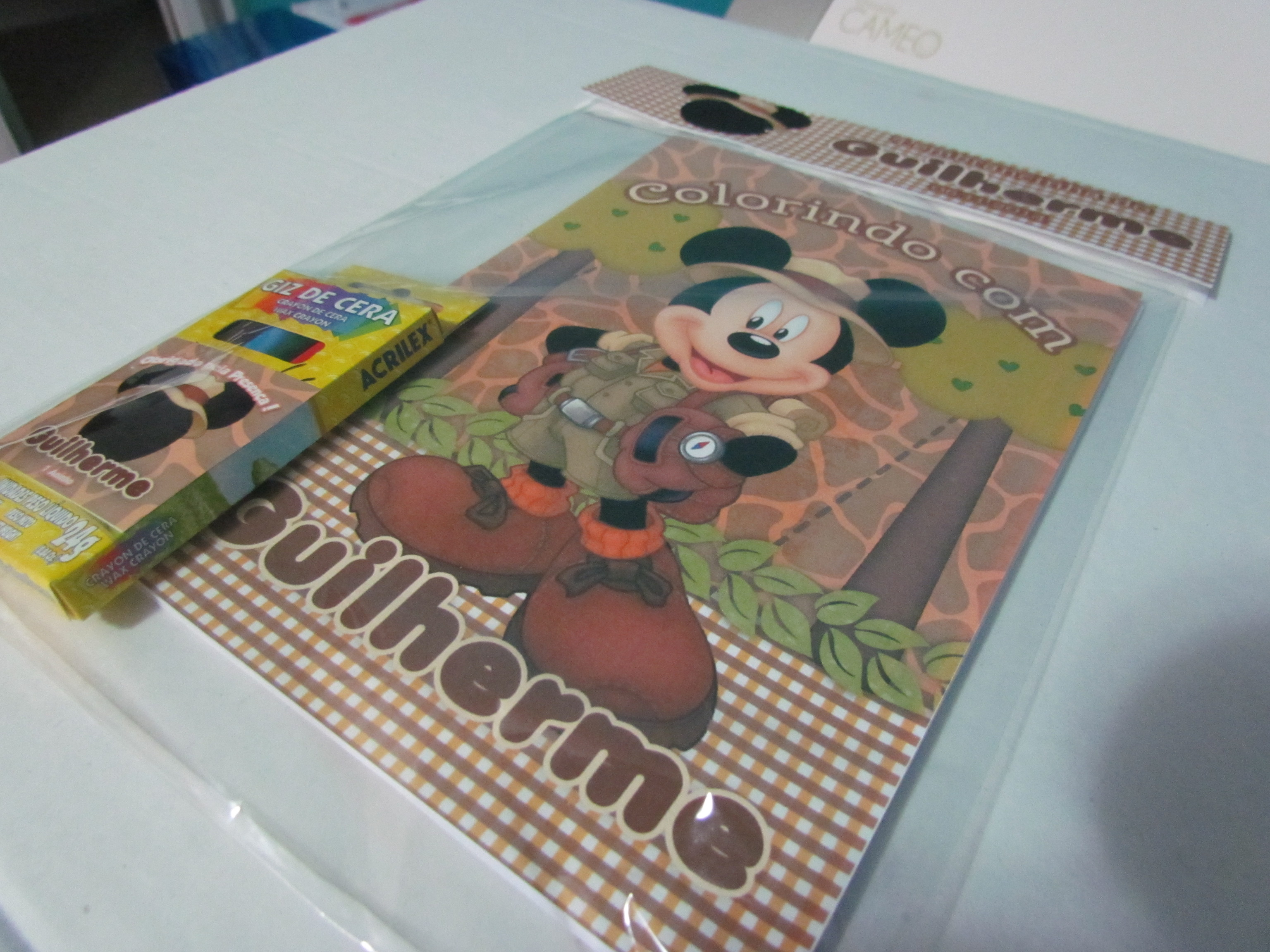 Mini Kit Colorir Mickey Safari No Elo7 By Lila Festas 443711