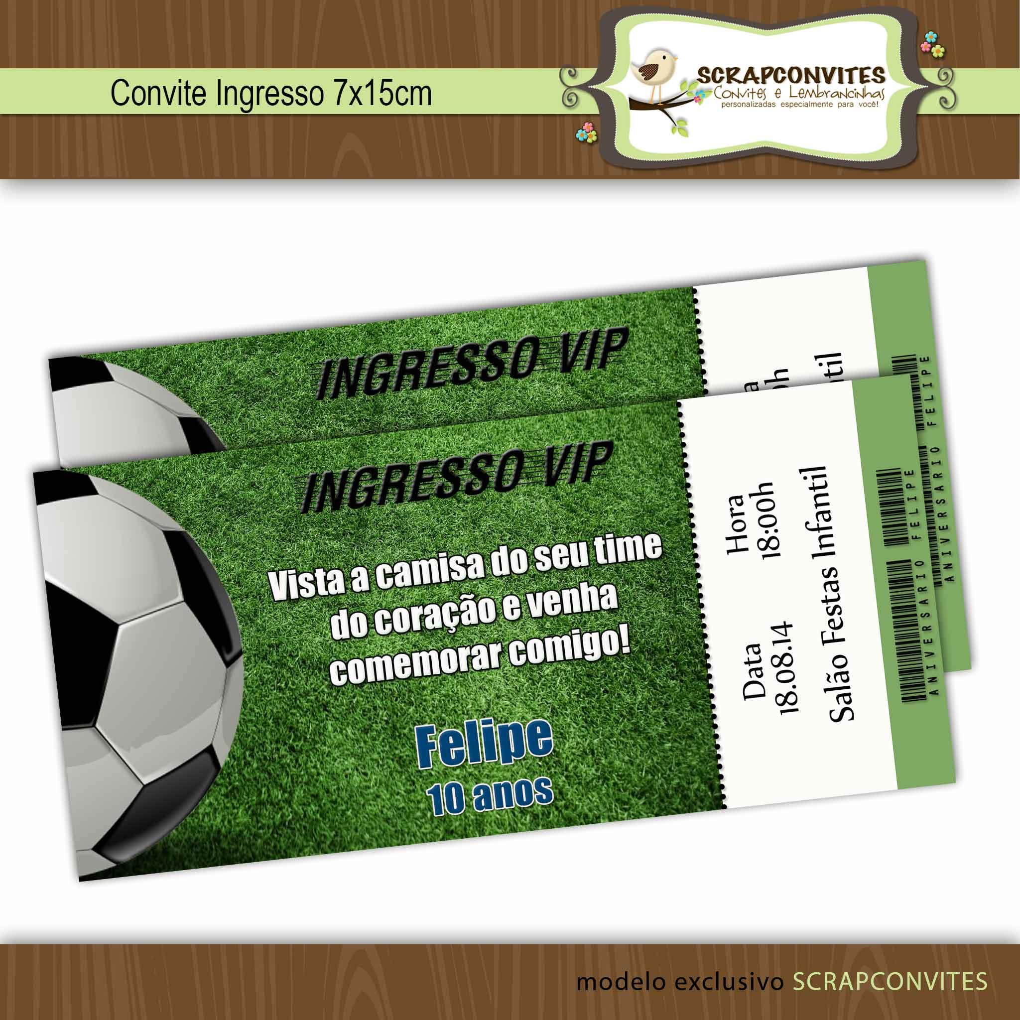 Convite Diferente Convite Festa Futebol Elo7