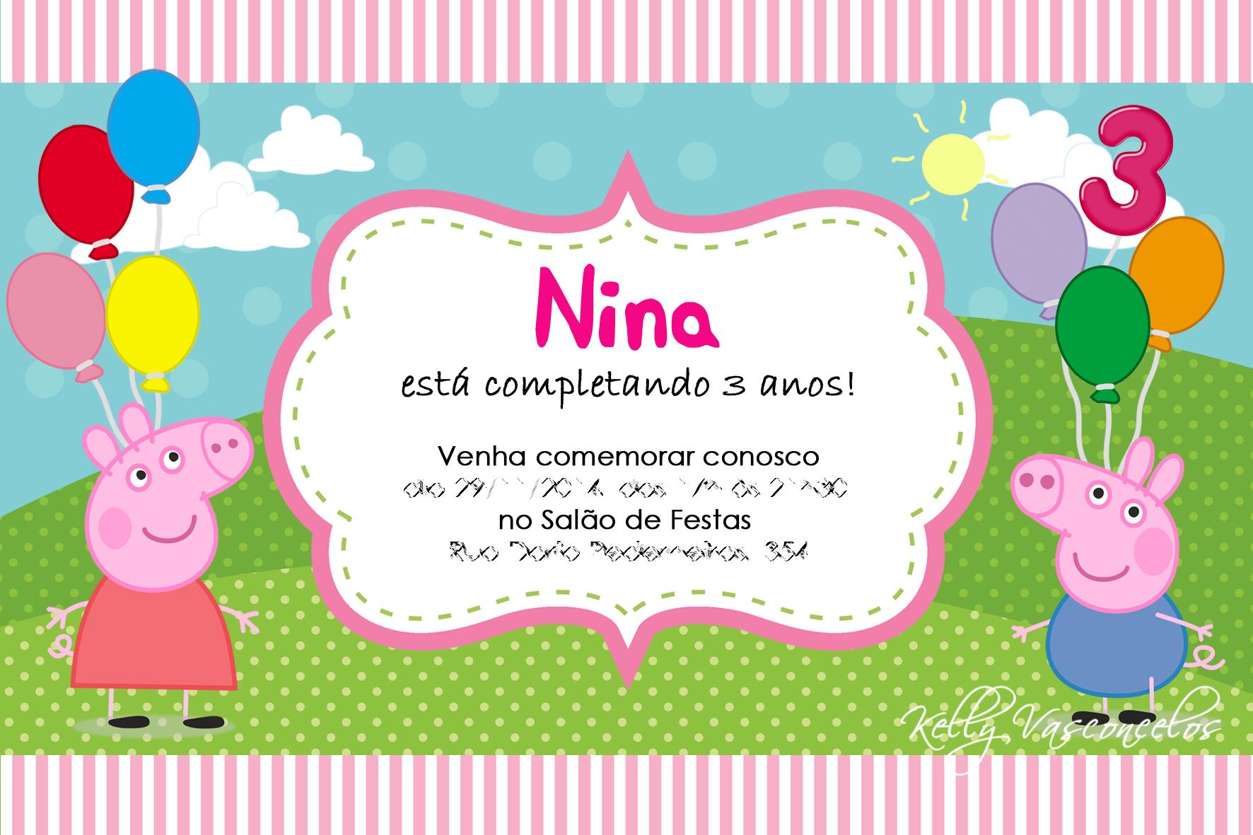 Convite Digital Peppa Pig No Elo7 Kelly Vasconcelos 444b17
