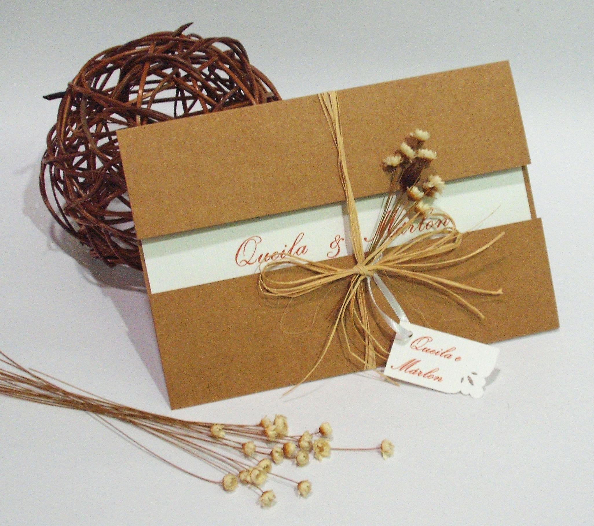 Convite de casamento r stico atelier pi bella elo7 for Papel de pared rustico