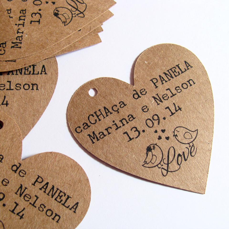 Design Of Tag Kraft Coração - Pombinhos e preço
