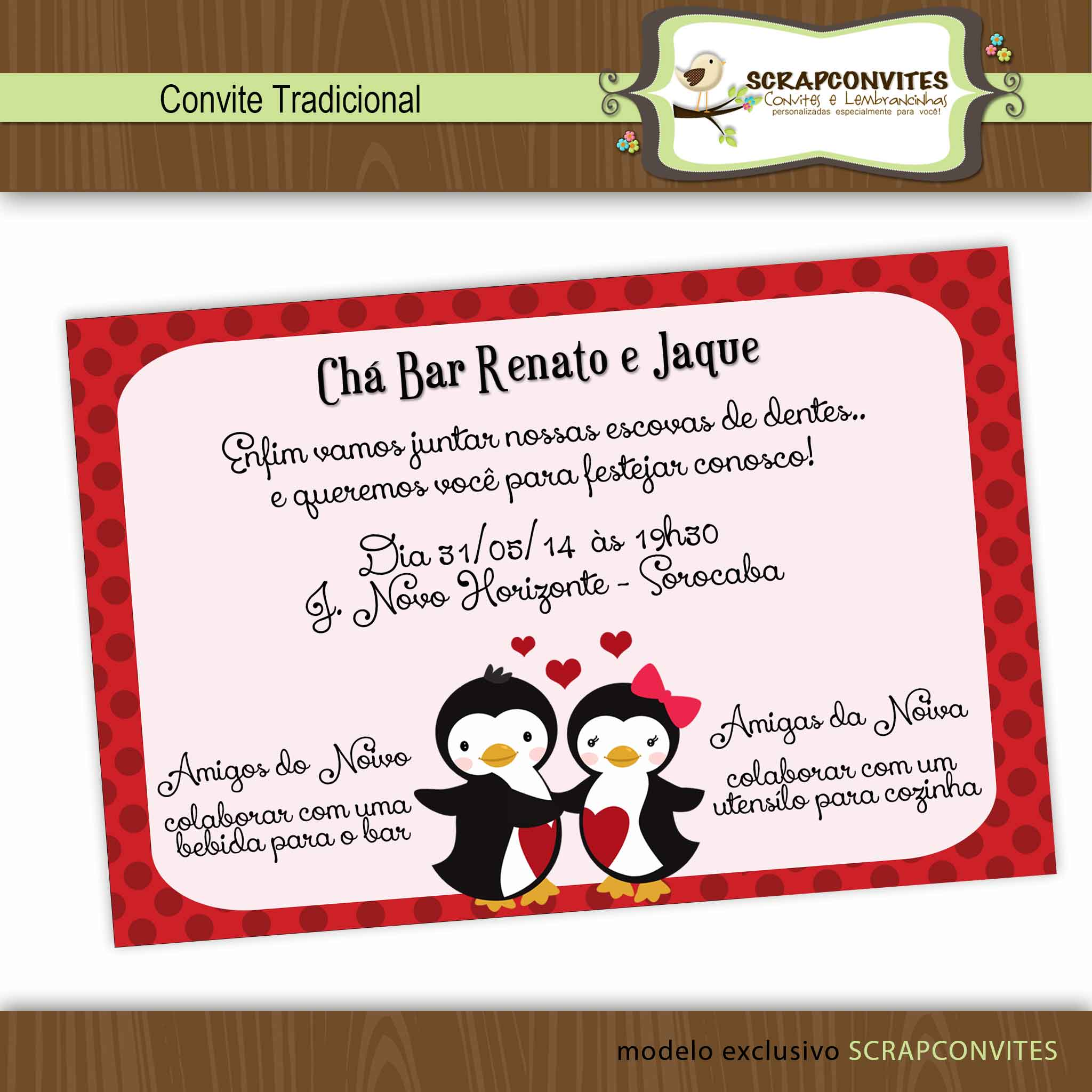 Convite Chá Bar Elo7