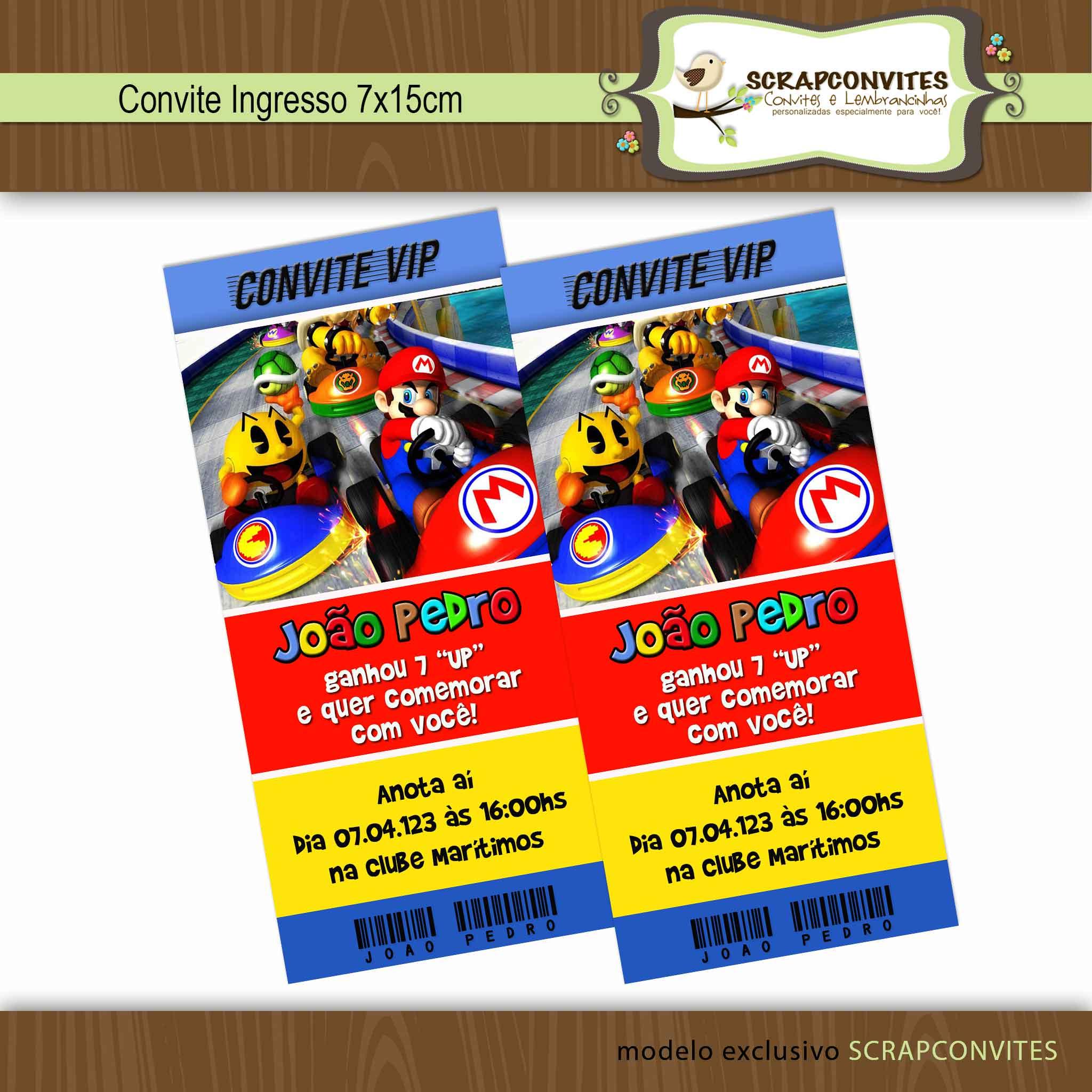 Convite Mário Bros No Elo7 Scrapconvites 2f34df