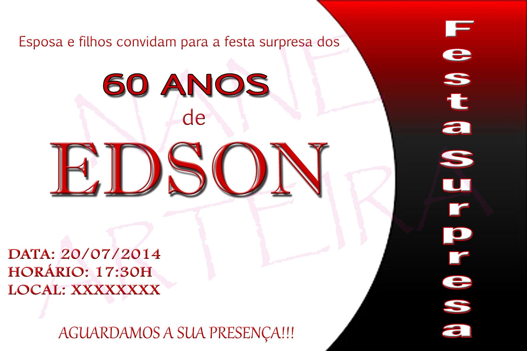 Convite Festa Surpresa 60 Anos Elo7