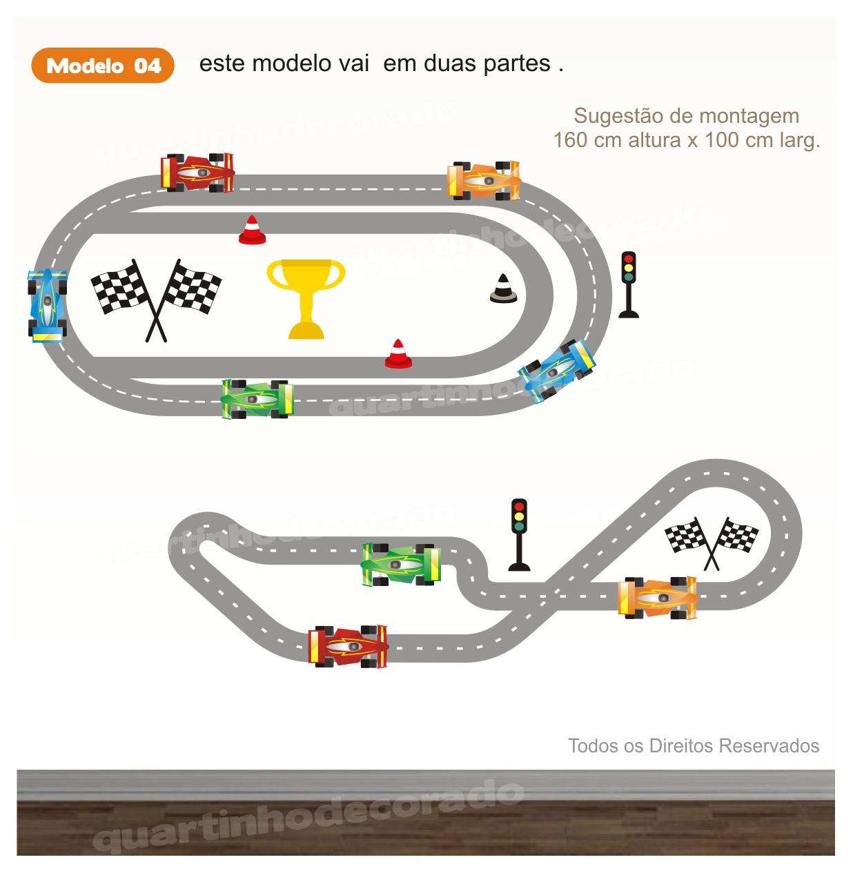 Adesivo Pista Carros Infantil Mod.4
