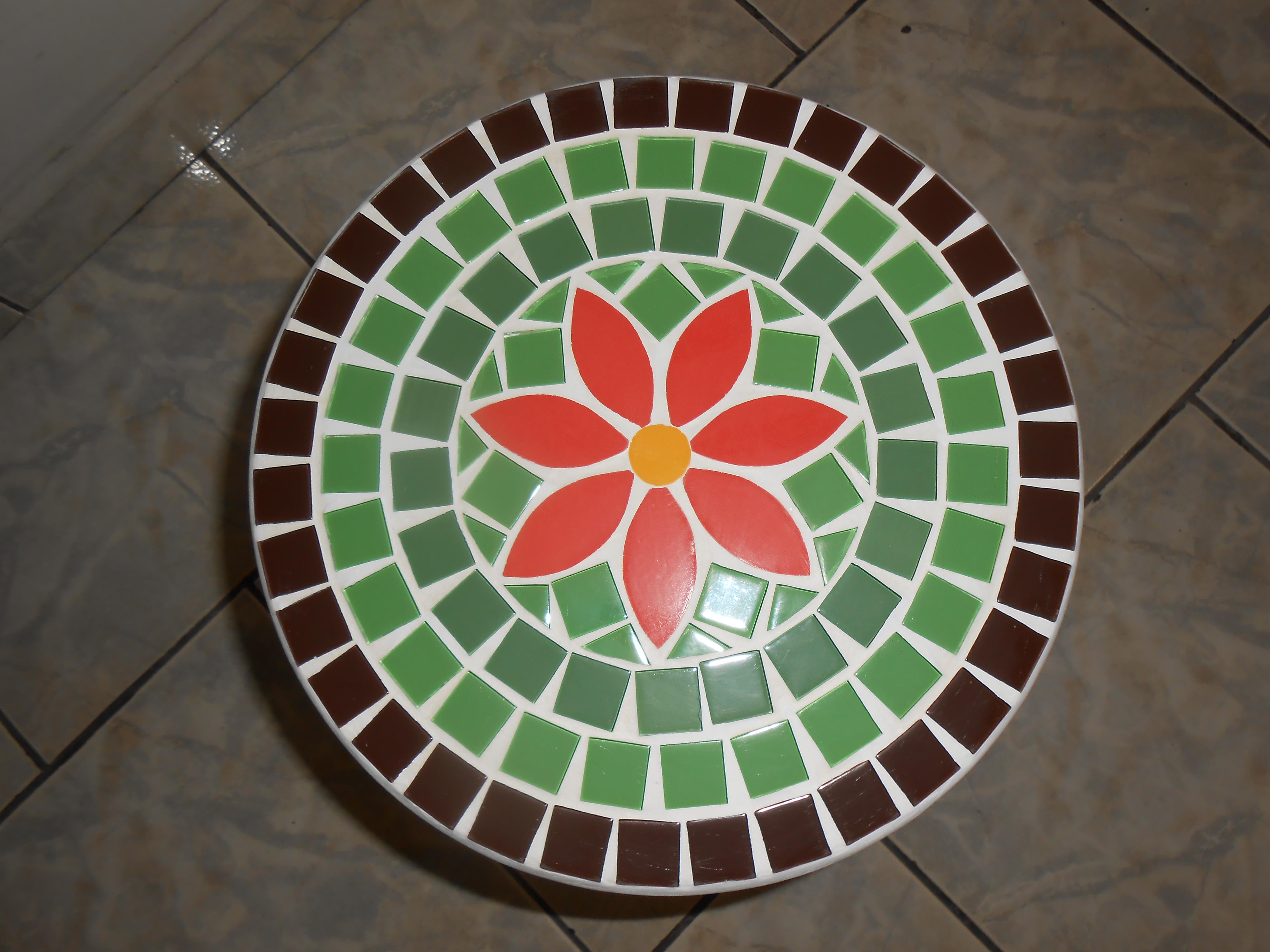 Mesa Redonda em Mosaico   Elo7