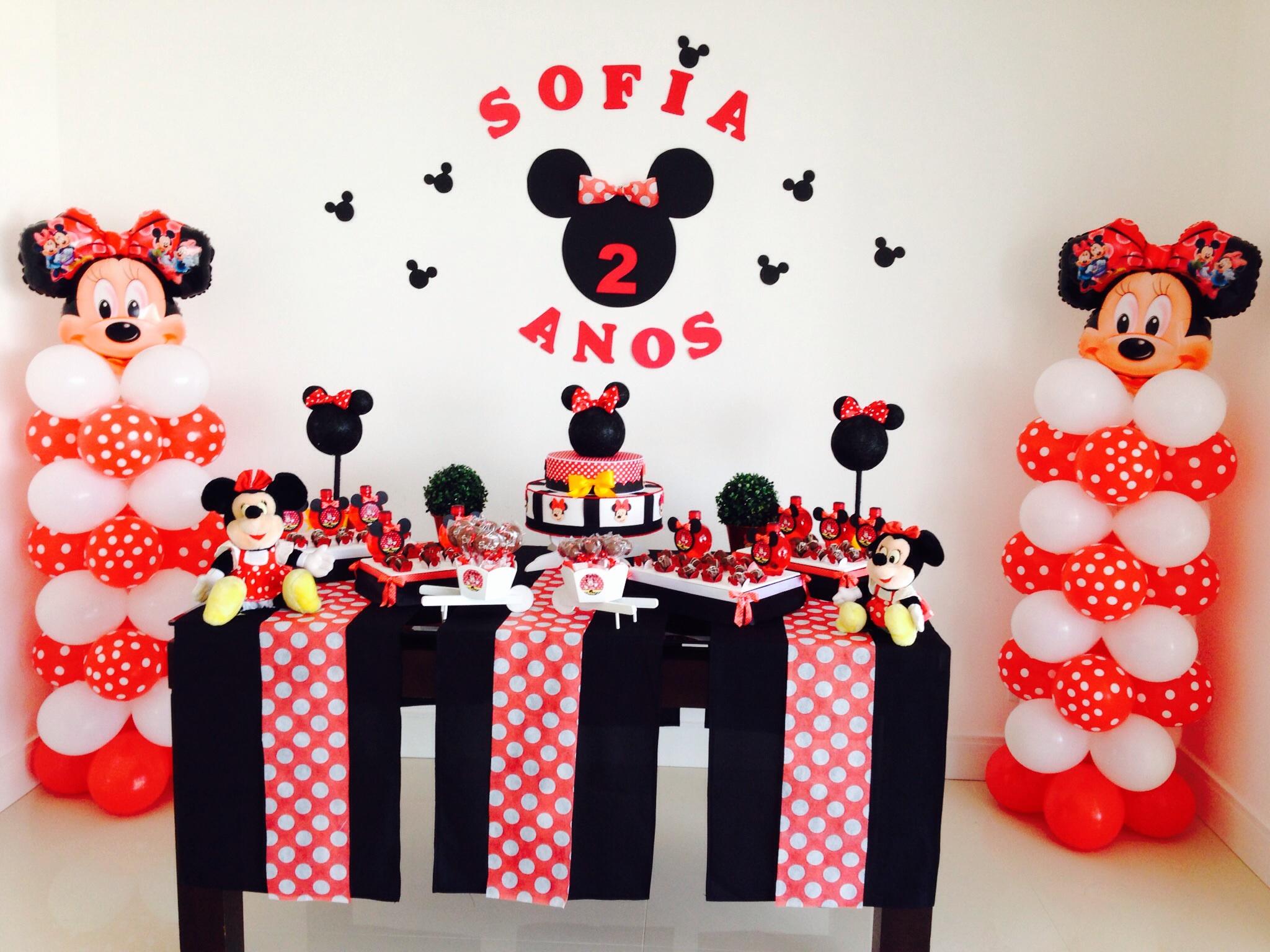 Decoraç u00e3o minnie AnaD u00ea Festas& Lembranças Elo7 # Decoraçao De Festa Da Minnie Vermelha Simples