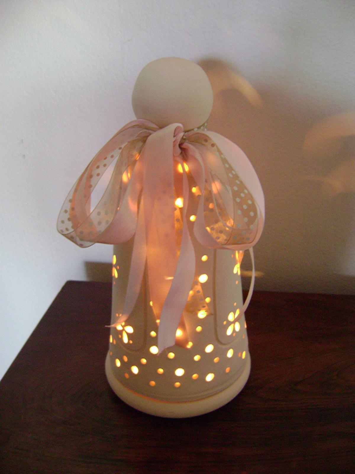Luminária Anjo, para quarto de beb u00ea Luminárias Decorativas by Lydia Janaudis Elo7