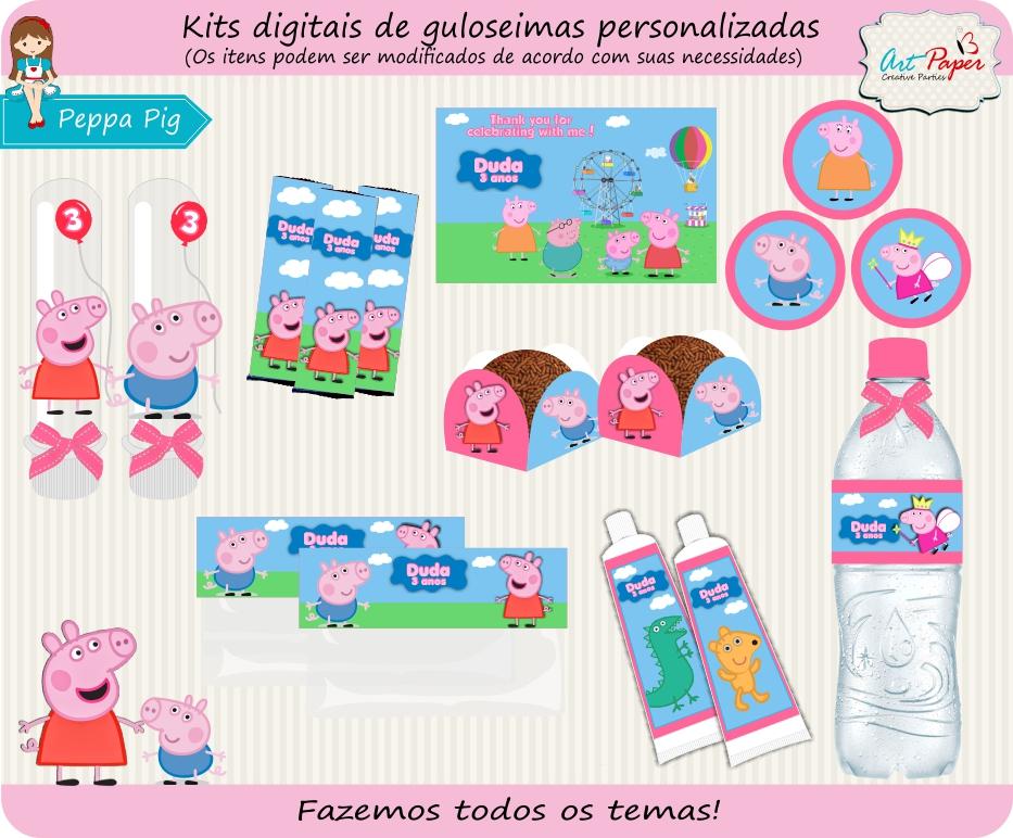 Kit de guloseimas Peppa Pig Digital no Elo7   Art Paper Creative Party  (3F3F8A)