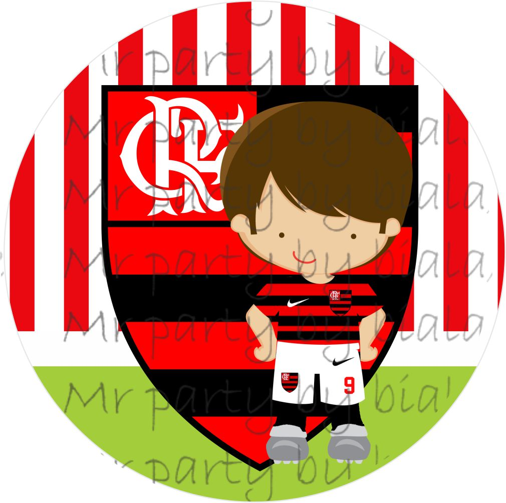 Toppers Escudo Do Flamengo No Elo7 Mrs Party Papelaria