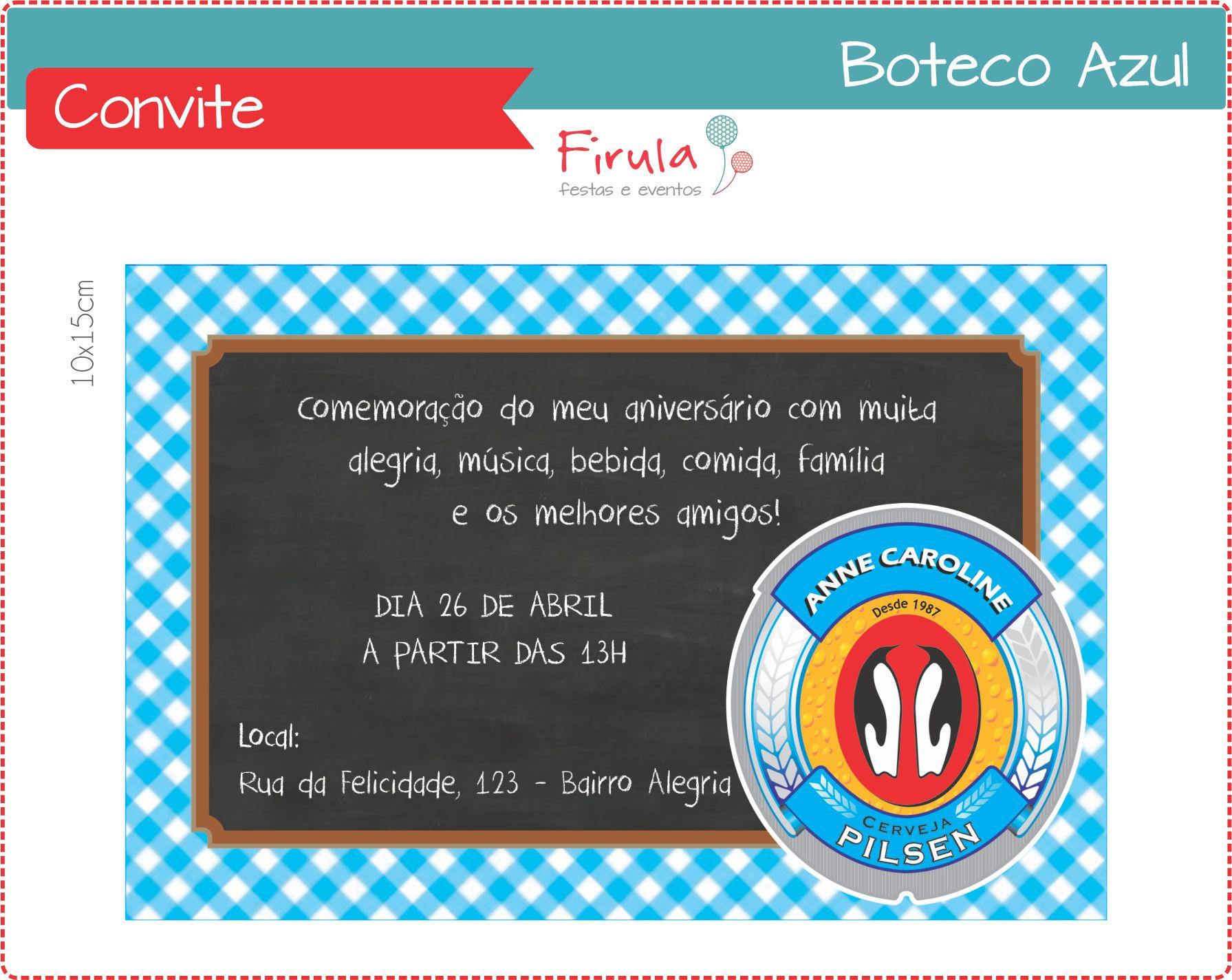 Kit Festa Digital Boteco Azul No Elo7 Firula Festas 45c6be