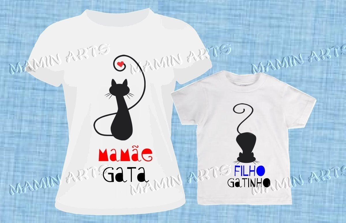 3ced700c4d80 Camiseta Mae Filho a Love 2 | Elo7