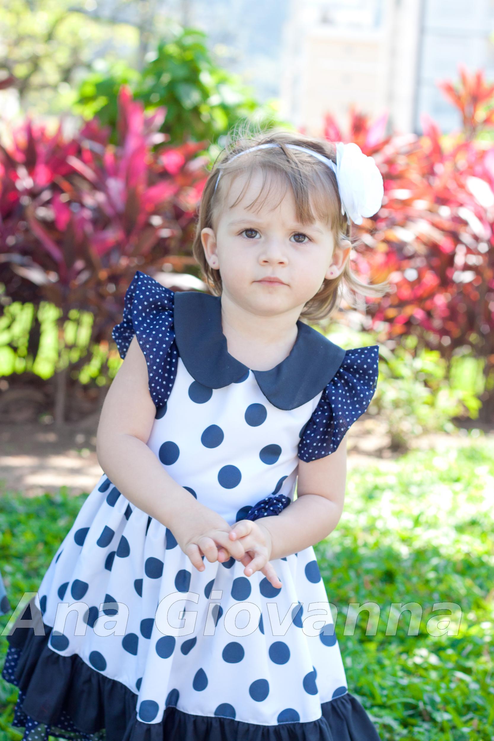 Vestido de festa branco e azul