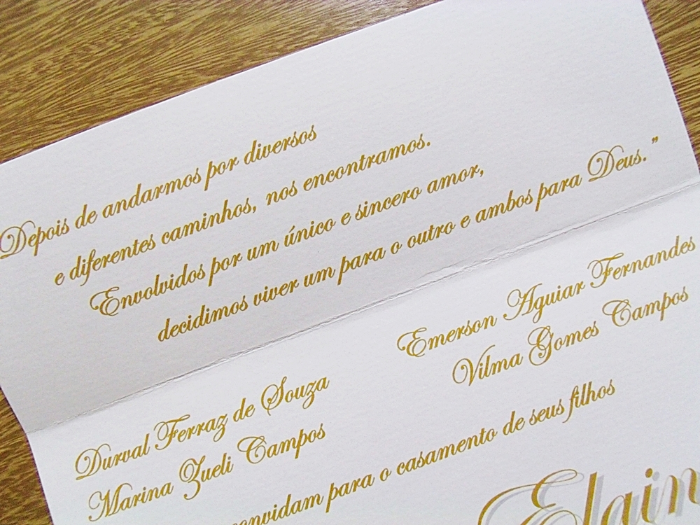 Convite Aspen Branco Dourado No Elo7 Papelac Convites Loja 01 4615b8
