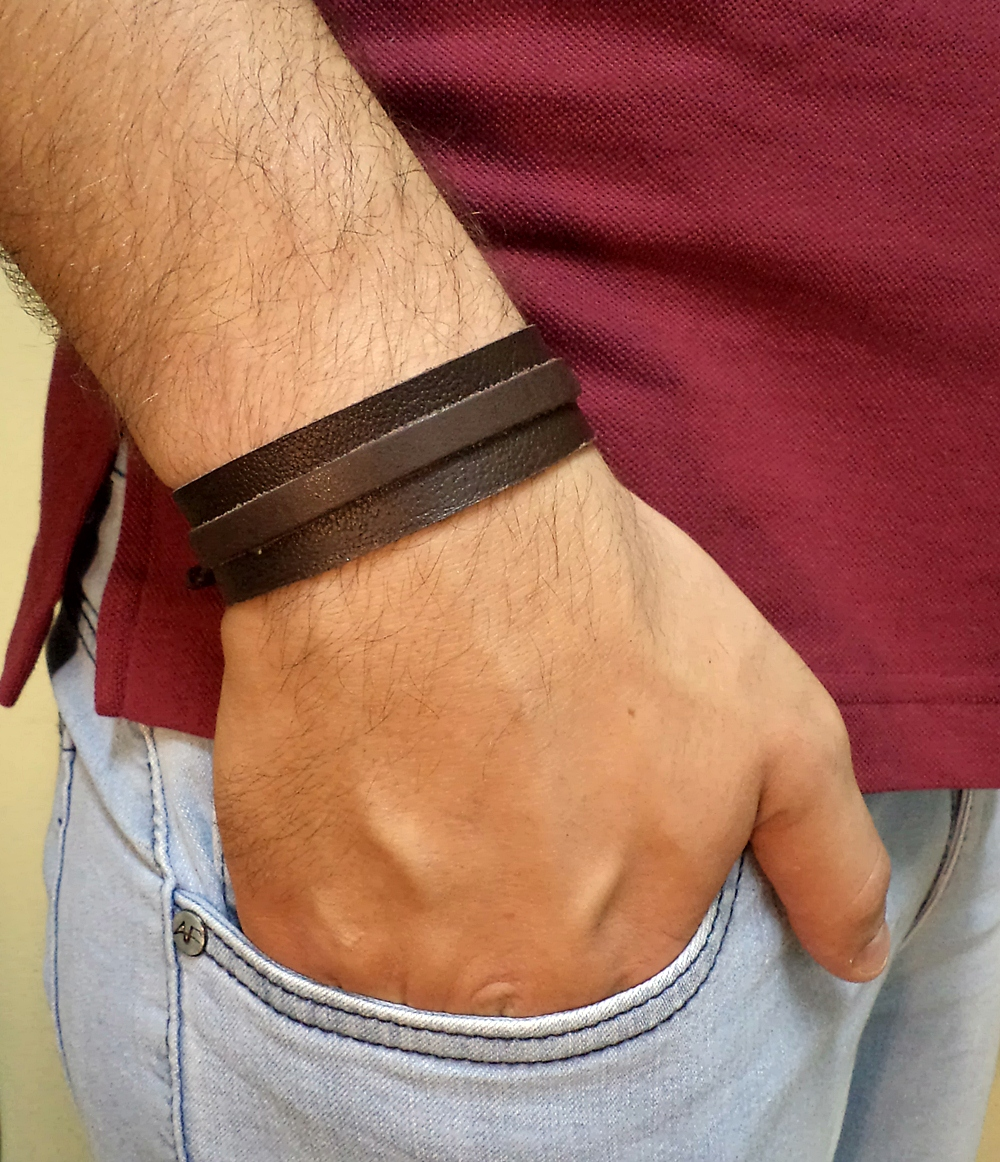 Pulseira Masculina Couro Country 007 10  f12bf2be28a