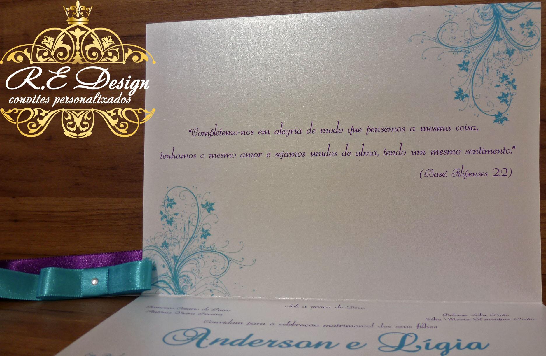 Convite Para Casamento Papel Brilhante No Elo7 Re Design Convites