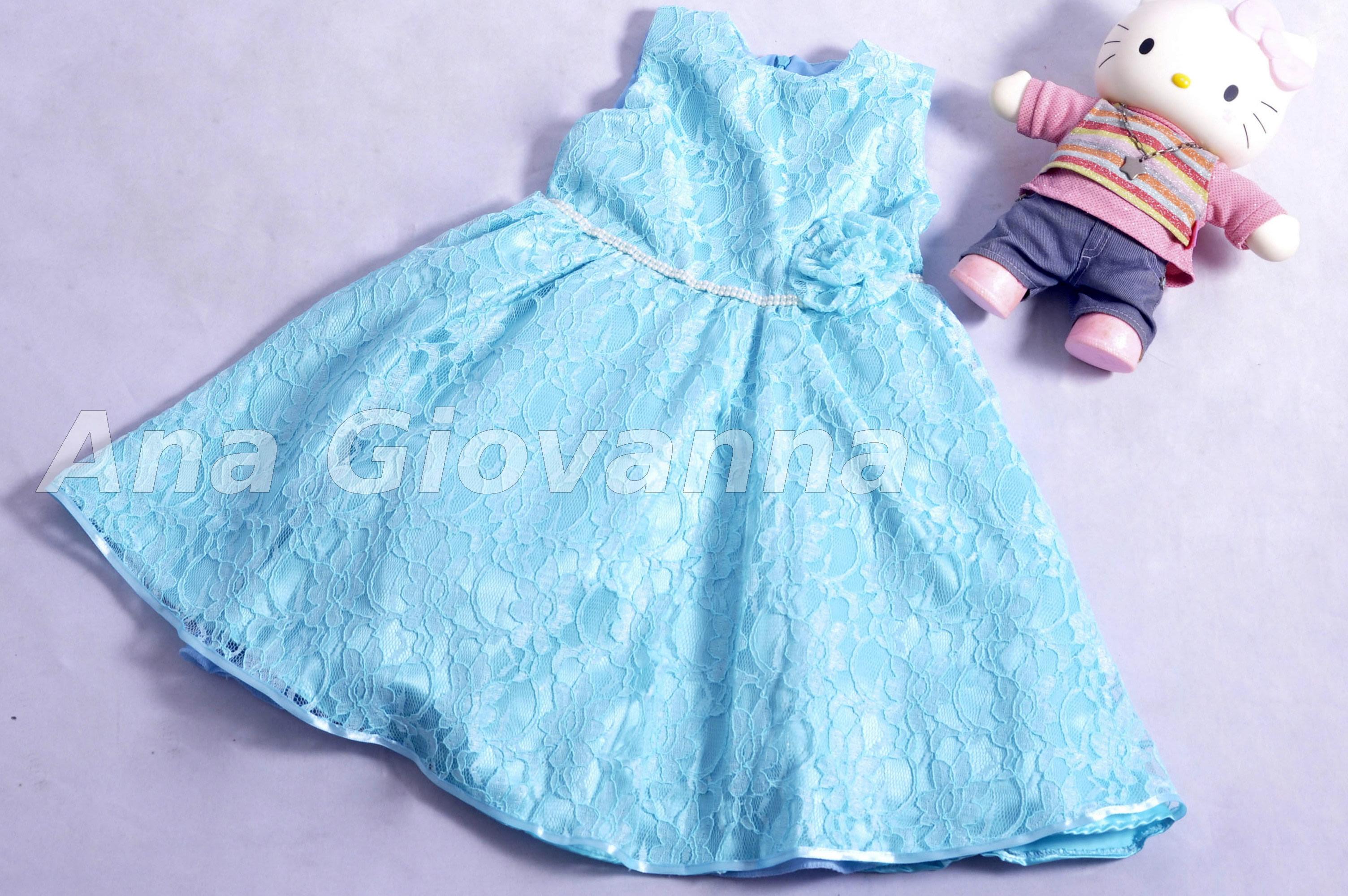 Vestido de renda verde bebe